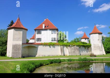 Muenchen Schloss Blutenburg - Munich palace Blutenburg 02 - Stock-Bilder
