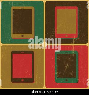 Smart Phone Poster, Pop-Art Styled, Vector - Stock-Bilder