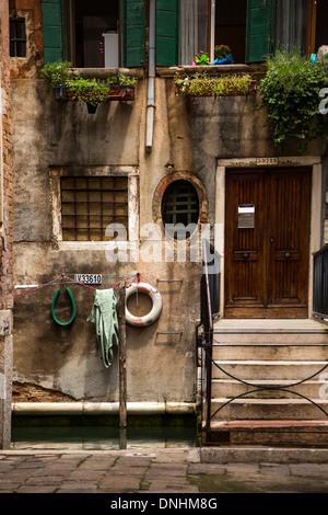 Facade of a house, Venice, Veneto, Italy - Stock-Bilder