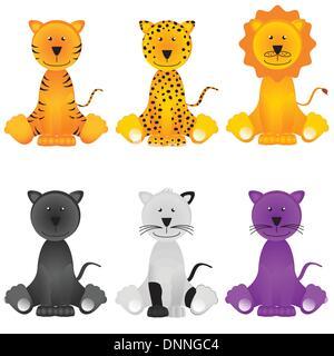 Cat, lion, leopard, jaguar, panther - Stock-Bilder