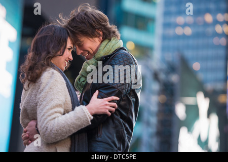 Young romantic couple on vacation, New York City, USA - Stock-Bilder