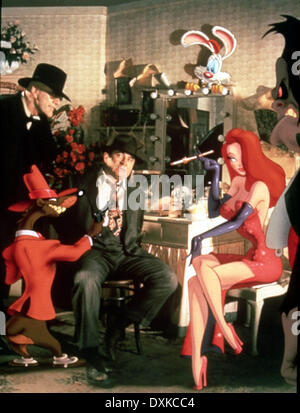 WHO FRAMED ROGER RABBIT? (US1988) CHRISTOPHER LLOYD, BOB HOS - Stock Image