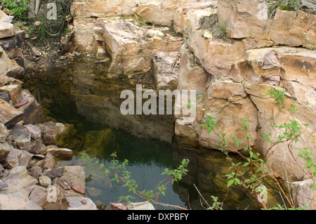 Quarry for pipestone, used to make Native American pipes, Pipestone National Monument, Minnesota. - Stock-Bilder