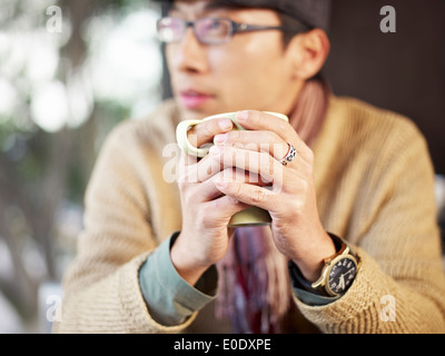 man with coffee - Stock-Bilder