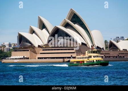 Australia NSW New South Wales Sydney Harbour harbor Opera House Sydney Ferries ferry boat public transportation - Stock Image