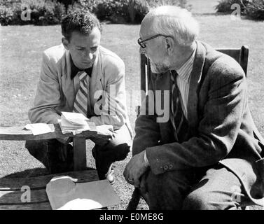 Composers Benjamin Britten and Ernst Ansermet - Stock Image