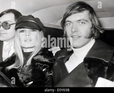 Actress Brigitte Bardot with Patrick Gilles - Stock Image