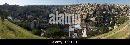 Panorama of Amman taken from The Citadel , Amman, Jordan - Stock Image