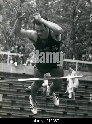 Feb. 26, 2012 - August 10th 1968 Athletics at Crystal Palace.  Photo Shows: Bill Toomey U.S.A. seen competing in - Stock Image