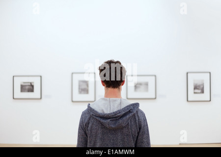 people at museum - Stock Image