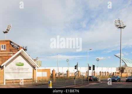 Exterior of Trent Bridge Cricket Ground, home of Nottinghamshire County Cricket Club, West Bridgford, Nottinghamshire, - Stock Image