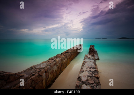 Dream beach with turquise water on the seychelles - Stock-Bilder
