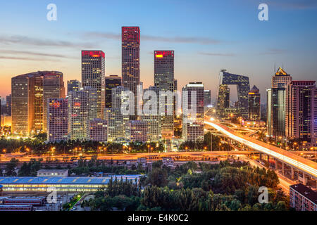 Beijing, China skyline at the central business district. - Stock-Bilder