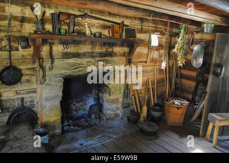 Appalachian Cabin Hearth Stock Photos Appalachian Cabin