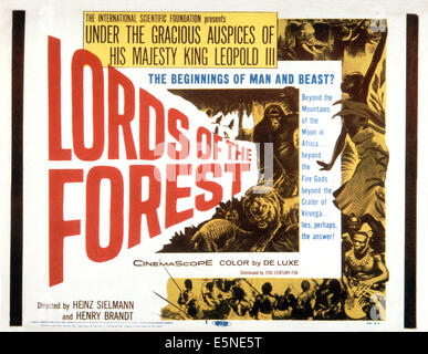 LORDS OF THE FOREST, (aka MASTERS OF THE CONGO JUNGLE), poster, 1958. ©20th Century-Fox Film Corporation, TM - Stock-Bilder