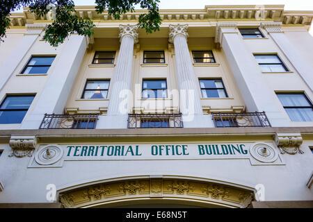 Hawaii Hawaiian Honolulu Territorial Office Building Kekuanao'a Classical Revival architectural style exterior - Stock Image