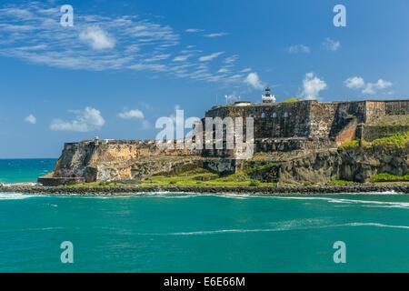 Fort San Felipe del Moro, San Juan Puerto Rico - Stock Image
