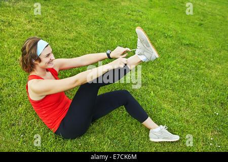 Athlete woman - Stock Image