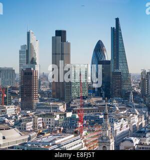 UK, England, London, View of city skyline - Stock Image