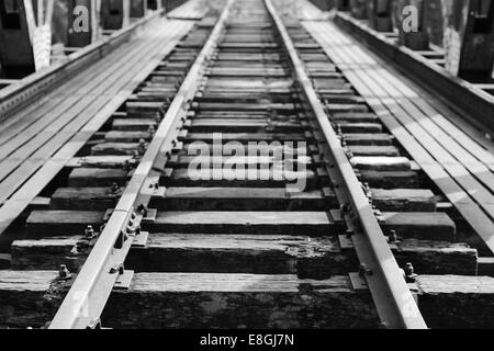 Abandoned railroad track - Stock-Bilder