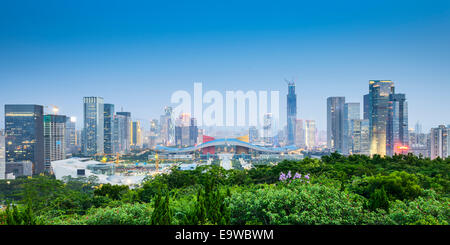 Shenzhen, China civic center city skyline. - Stock Image
