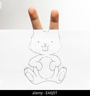 Conceptual bunny rabbit - Stock Image