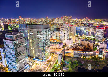 Tokyo, Japan cityscape at night. - Stock-Bilder