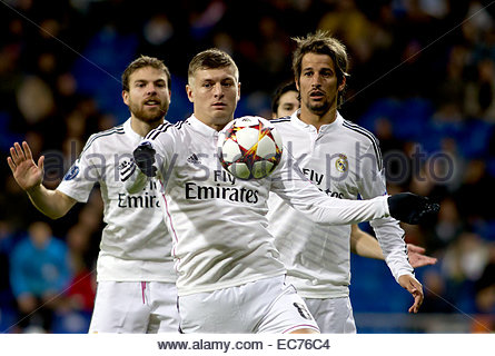 SPAIN, Madrid: Real Madrid's German midfielder Toni Kroos during the Champions League 2014/15 match between - Stock Image