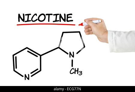 chemistry of nicotine Anyone who starts using tobacco can become addicted to nicotine  it acts on  the chemistry of the brain and central nervous system, affecting.