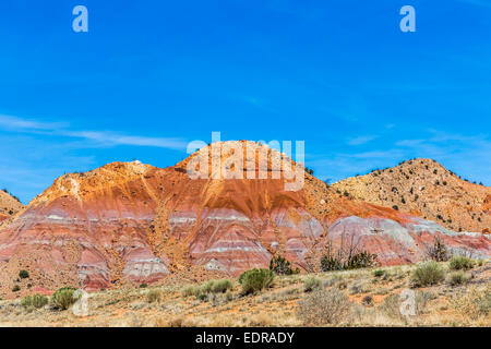 Red Rocks at Ghost Ranch, New Mexico, USA - Stock Image