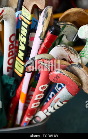 hockey sticks - Stock Image