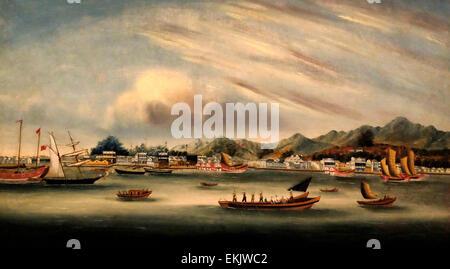 Amoy (Xiamen), China, circa 1850 - Stock-Bilder