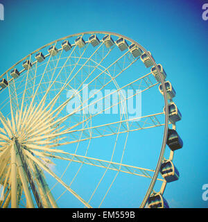Ferris wheel with filter effect - Stock Image