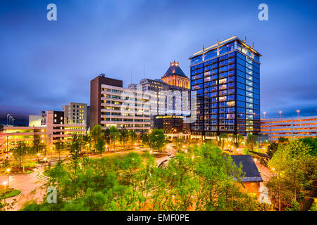 Greensboro, North Carolina, USA downtown city skyline. - Stock Image