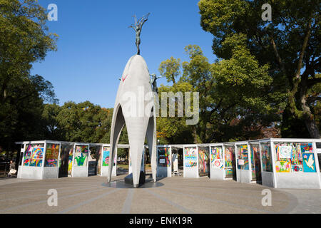 Children's Peace Monument, Hiroshima Peace Memorial Park, Hiroshima, Western Honshu, Japan, Asia - Stock-Bilder