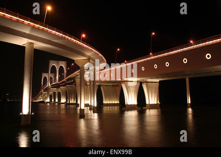 Governor Nobre de Carvalho Bridge in Macau - Stock Image