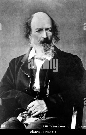 TENNYSON, Alfred English poet - Stock Image