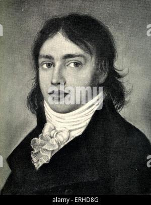 Samuel Taylor Coleridge in 1799. English poet, 21 October 1772-25 July 1834. - Stock-Bilder