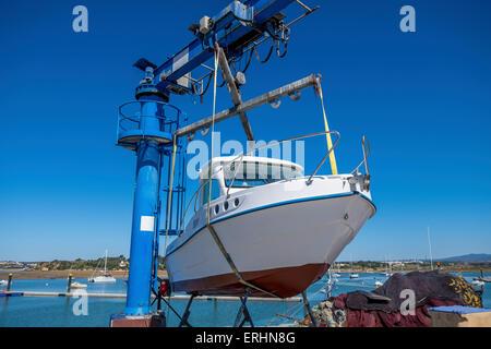 Boat handling stock photos boat handling stock images for Boat lift motors near me