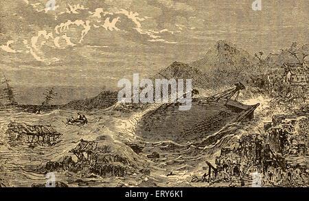 The Disaster of Scylla, Destruction of Scylla, Italy, 1783 - Stock-Bilder