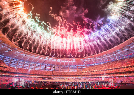 Baku, Azerbaijan. 12th June, 2015. European Games Opening Ceremony. Credit:  Elmar Mustafayev/Alamy Live News - Stock-Bilder