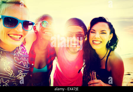 Friends Friendship Vacation Togetherness Fun Concept - Stock Image