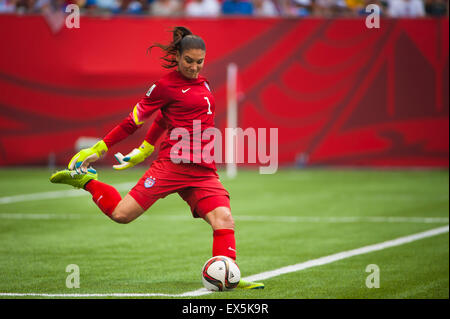 Vancouver, Canada. 5th July, 2015. during the World Cup final match between the USA and Japan at the FIFA Women's - Stock-Bilder