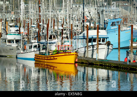 Fishing boats, Port of Newport, Oregon USA - Stock Image
