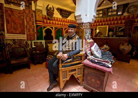 Tangier, antiquarian MAJID - Stock-Bilder