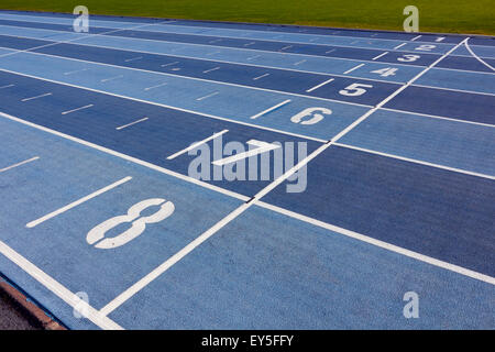 athletics lanes - Stock-Bilder