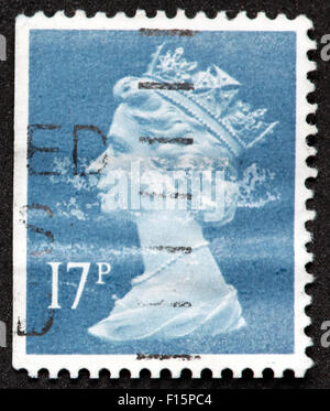 British 17p used stamp - Stock Image