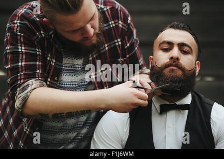 barber shave stock photos barber shave stock images alamy. Black Bedroom Furniture Sets. Home Design Ideas