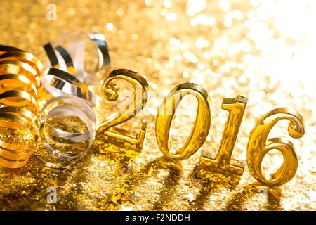 New year decoration,Closeup on 2016. - Stock-Bilder
