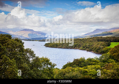 Loch Lomond and the Trossachs National Park from Craigiefort, Stirlingshire, Scotland, UK. - Stock-Bilder